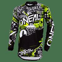 ELEMENT Jersey ATTACK black/hi-viz L - Pulsschlag Bike+Sport