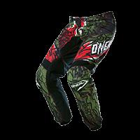 ELEMENT Pants VANDAL green/red 28/44 - bike´n soul Shop