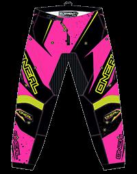 ELEMENT Pants RACEWEAR WOMEN pink/yellow 1/2 (26) - bike´n soul Shop