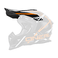 Visor 2Series Evo THUNDERSTRUCK black/white/orange - bike´n soul shop saalbach hinterglemm