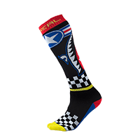 Pro MX Sock WINGMAN black/blue/red/yellow (One Size) - Pulsschlag Bike+Sport