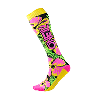 Pro MX Sock ISLAND pink/green/yellow (One Size) - Pulsschlag Bike+Sport