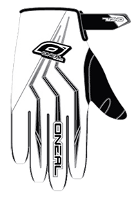 ELEMENT Glove white L/9 - bike´n soul shop saalbach hinterglemm