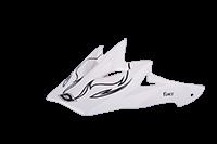 Spare Visor Fury Helmet / Youth Helmet white 09 - bike´n soul shop saalbach hinterglemm