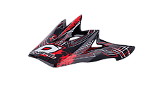 Spare Visor Backflip Fidlock DH Helmet/Youth /Biohazard  red - bike´n soul Shop