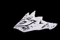 Spare Visor Fury Helmet / Youth Helmet  Repeat white high gloss - bike´n soul shop saalbach hinterglemm