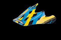 Spare Visor Fury Helmet - 2013 yellow/cyan - bike´n soul Shop