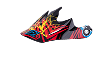 Spare Visor Fury Helmet - 2013 Mayhem Roots black/red - bike´n soul Shop