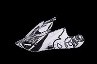 Spare Visor Fury Helmet - 2013 Jungle white/black - bike´n soul Shop
