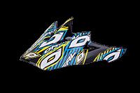 Spare Visor Backflip Fidlock DH Helmet  Gonzo yellow/cyan - bike´n soul shop saalbach hinterglemm