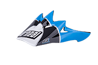 Spare Visor Backflip Fidlock DH Helmet  Gravity cyan - bike´n soul shop saalbach hinterglemm