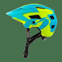DEFENDER 2.0 Helmet SLIVER neon yellow/blue L/58-XL/61 - Pulsschlag Bike+Sport