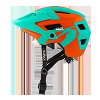 DEFENDER 2.0 Helmet SLIVER orange/teal L/58-XL/61 - Pulsschlag Bike+Sport