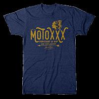 Moto XXX T-Shirts SAVAGE blue S - Pulsschlag Bike+Sport