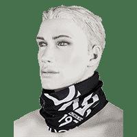 NECKWARMER SOLID black/white - Pulsschlag Bike+Sport