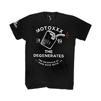 Moto XXX T-Shirts DEGENERATES black S - bike´n soul shop saalbach hinterglemm