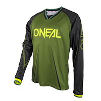 ELEMENT FR Long Sleeve Jersey BLOCKER green/black S - bike´n soul shop saalbach hinterglemm