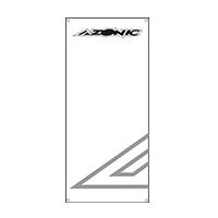 Azonic PVC Banner 225 x 100 cm white - Pulsschlag Bike+Sport