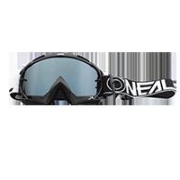 B-10 Goggle TWOFACE black - mirror silver - Pulsschlag Bike+Sport