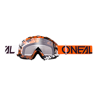 B-10 Goggle PIXEL orange/white - clear - Pulsschlag Bike+Sport