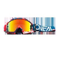 B-10 Goggle PIXEL red/blue - radium - Pulsschlag Bike+Sport