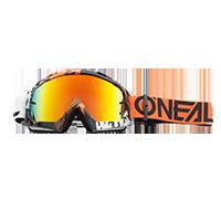 B-10 Goggle PIXEL orange/white - radium - Pulsschlag Bike+Sport