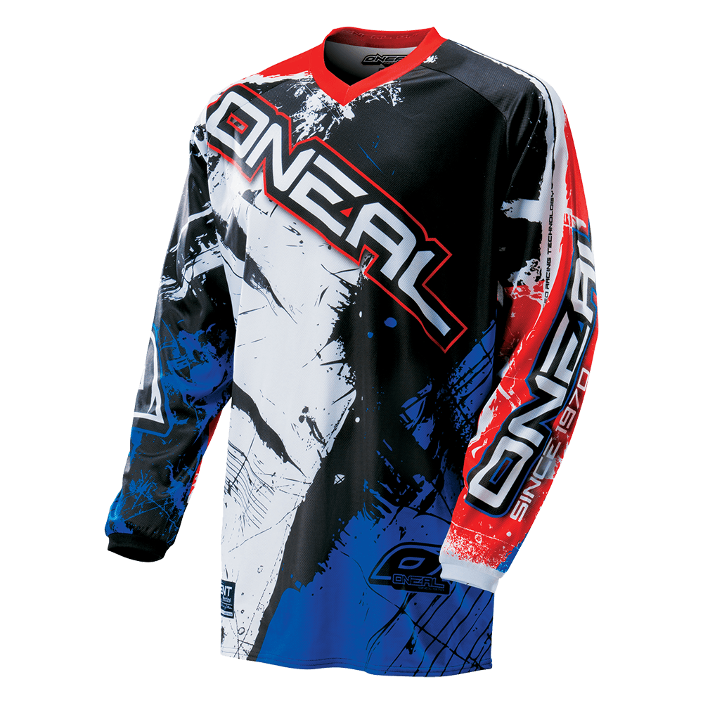 ELEMENT Jersey SHOCKER black/blue/red L - ELEMENT Jersey SHOCKER black/blue/red L