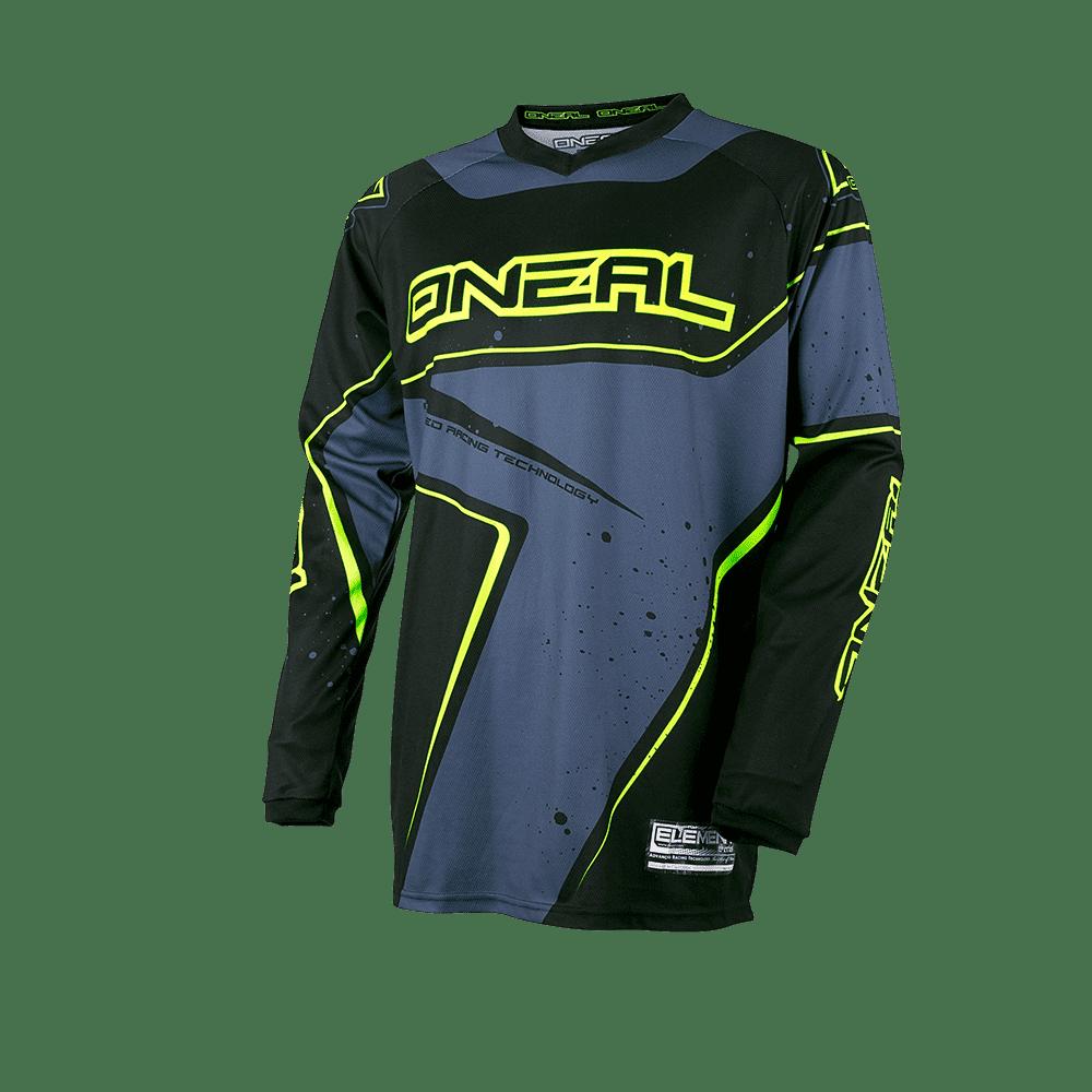 Element Jersey RACEWEAR black/gray/hi-viz XL - Element Jersey RACEWEAR black/gray/hi-viz XL