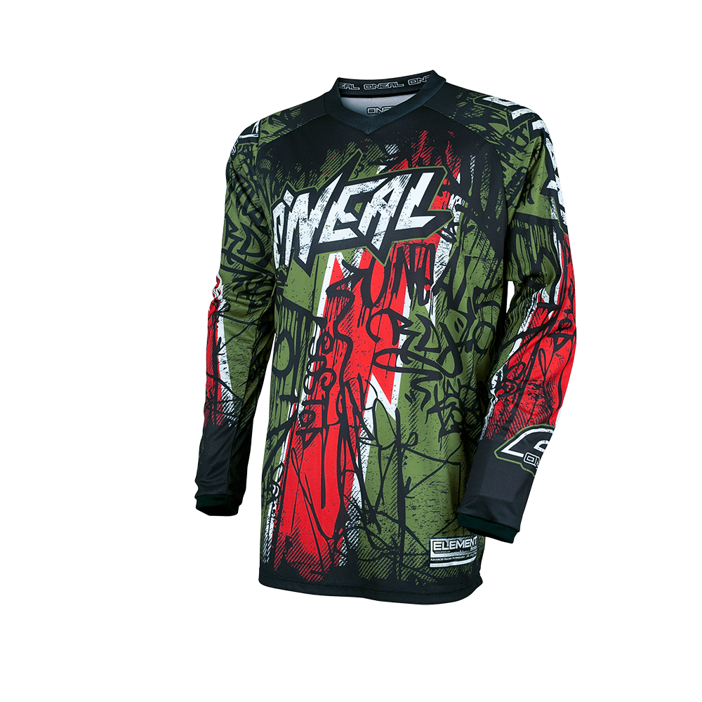 Element Jersey VANDAL green/red S - Element Jersey VANDAL green/red S