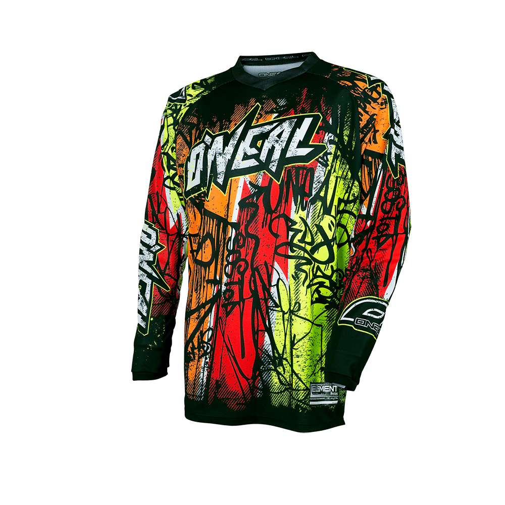 ELEMENT Jersey VANDAL black/neon L - ELEMENT Jersey VANDAL black/neon L