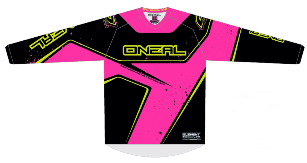 Element Jersey RACEWEAR WOMEN black/pink/yellow XL - Element Jersey RACEWEAR WOMEN black/pink/yellow XL