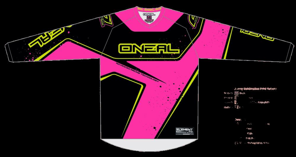 Element Jersey RACEWEAR WOMEN black/pink/yellow L - Element Jersey RACEWEAR WOMEN black/pink/yellow L