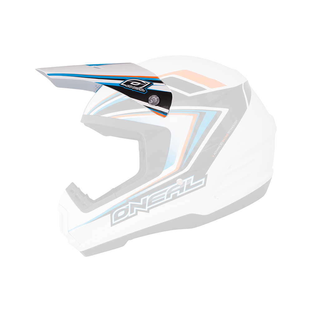 Spare Visor 2Series Helmet ARROW black/blue/white - Spare Visor 2Series Helmet ARROW black/blue/white