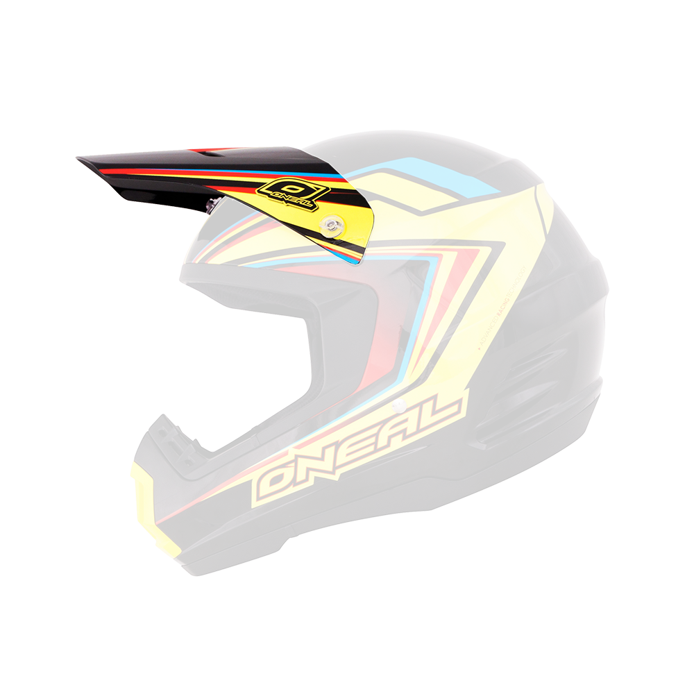 Spare Visor 2Series Helmet ARROW black/yellow - Spare Visor 2Series Helmet ARROW black/yellow
