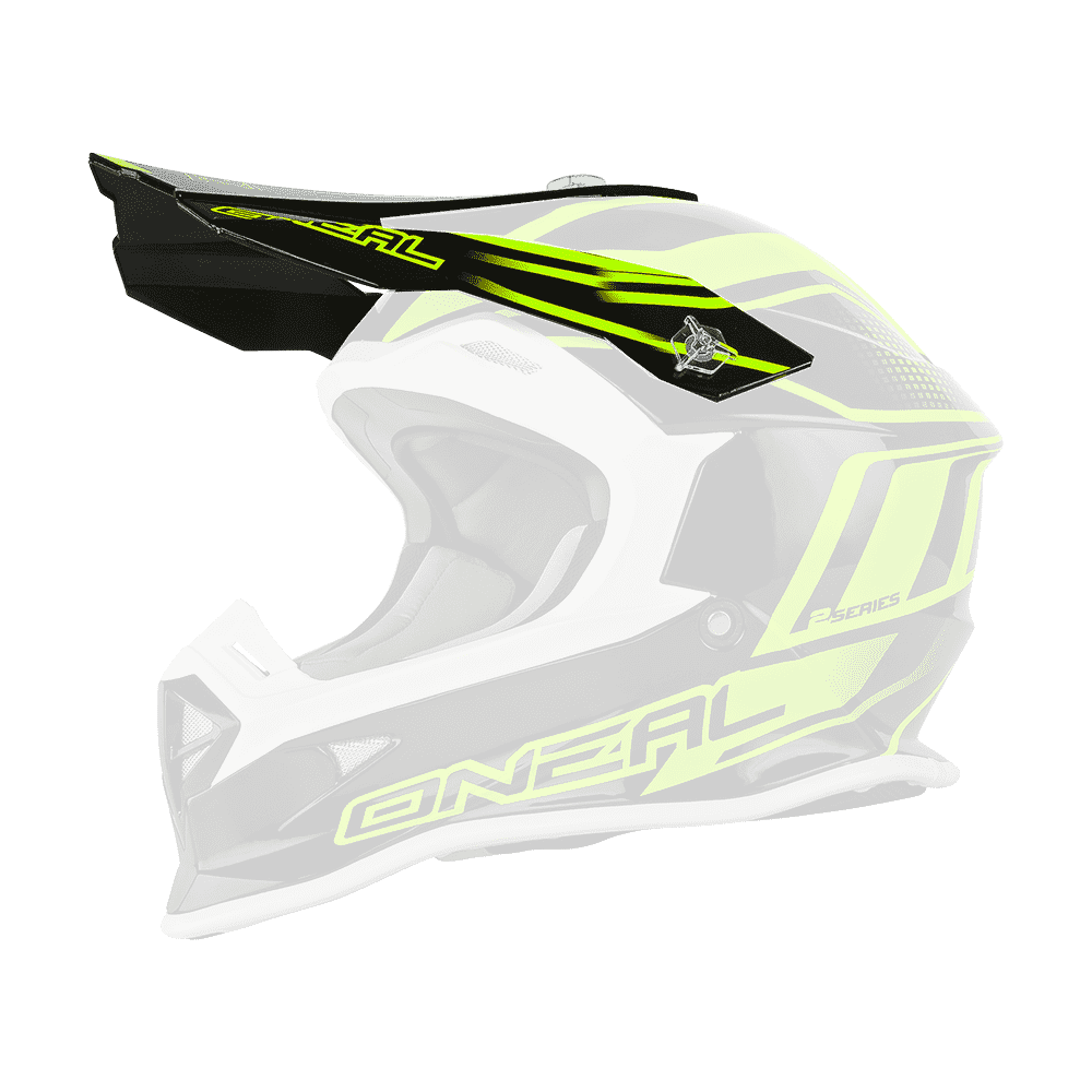 Visor 2Series Evo MANALISHI black/neon yellow - Visor 2Series Evo MANALISHI black/neon yellow