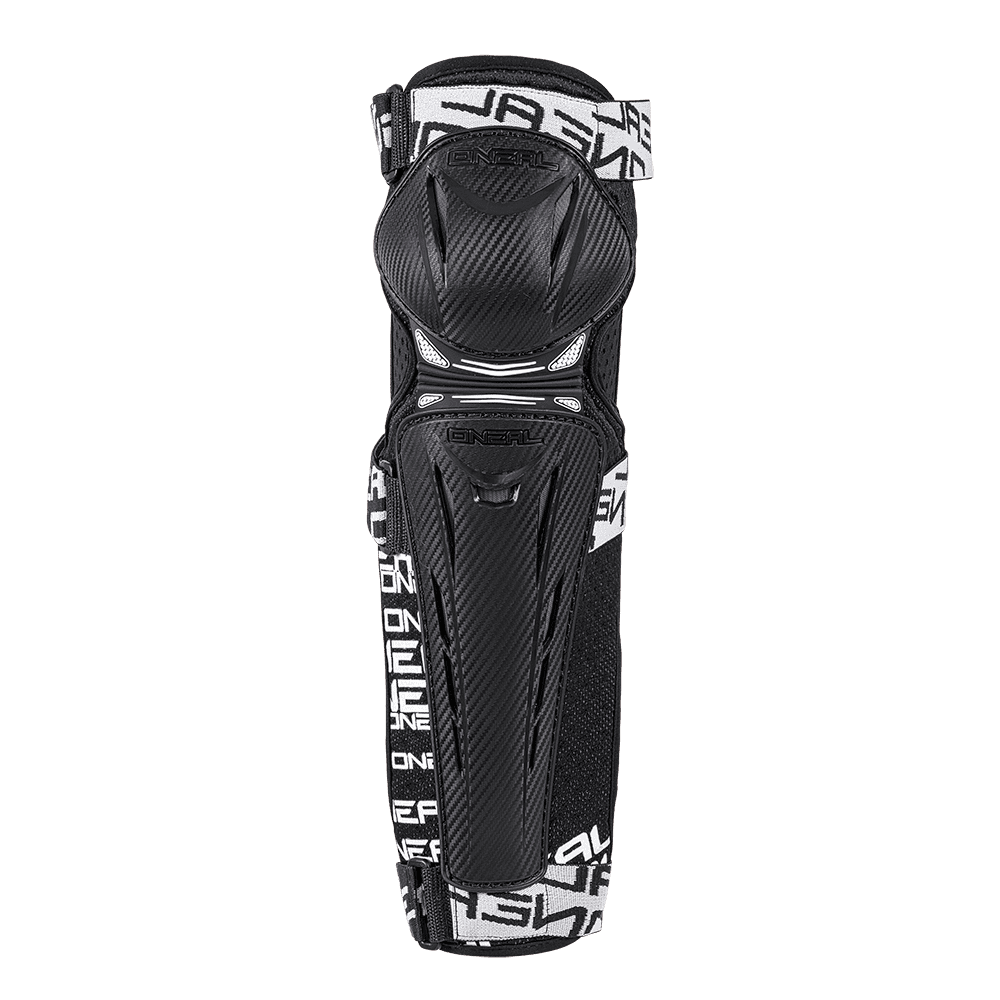 TRAIL FR Carbon Look Knee Guard black/white S - TRAIL FR Carbon Look Knee Guard black/white S
