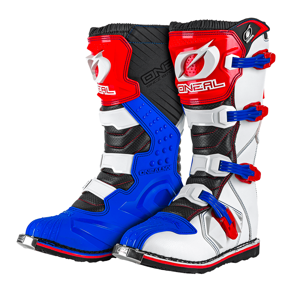 RIDER Boot EU blue/red/white 48/14 - RIDER Boot EU blue/red/white 48/14