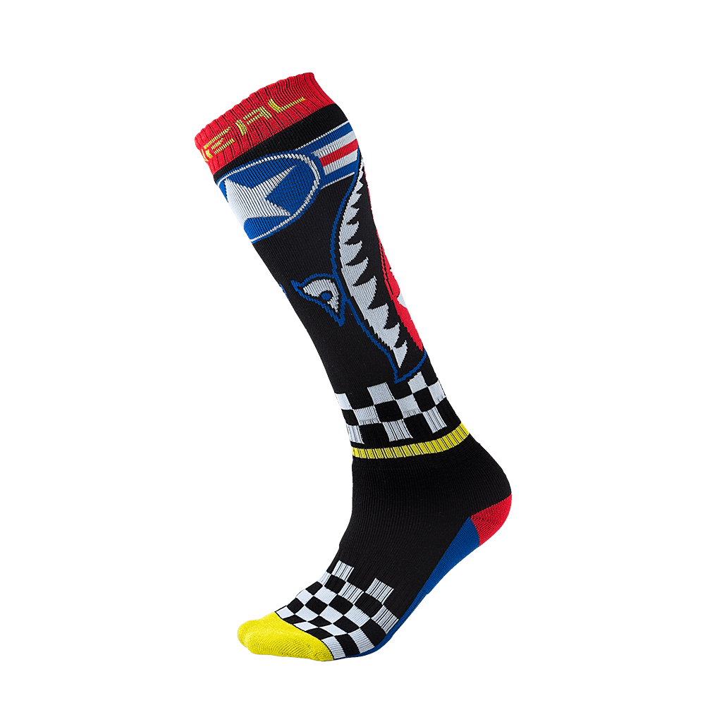 Pro MX Sock WINGMAN black/blue/red/yellow (One Size) - Pro MX Sock WINGMAN black/blue/red/yellow (One Size)