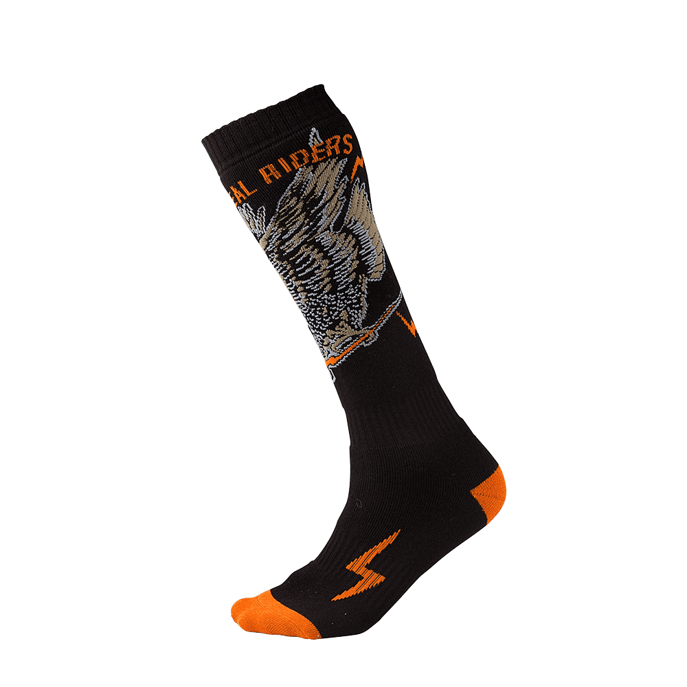 Pro MX Sock EAGLE Black/Orange - Pro MX Sock EAGLE Black/Orange