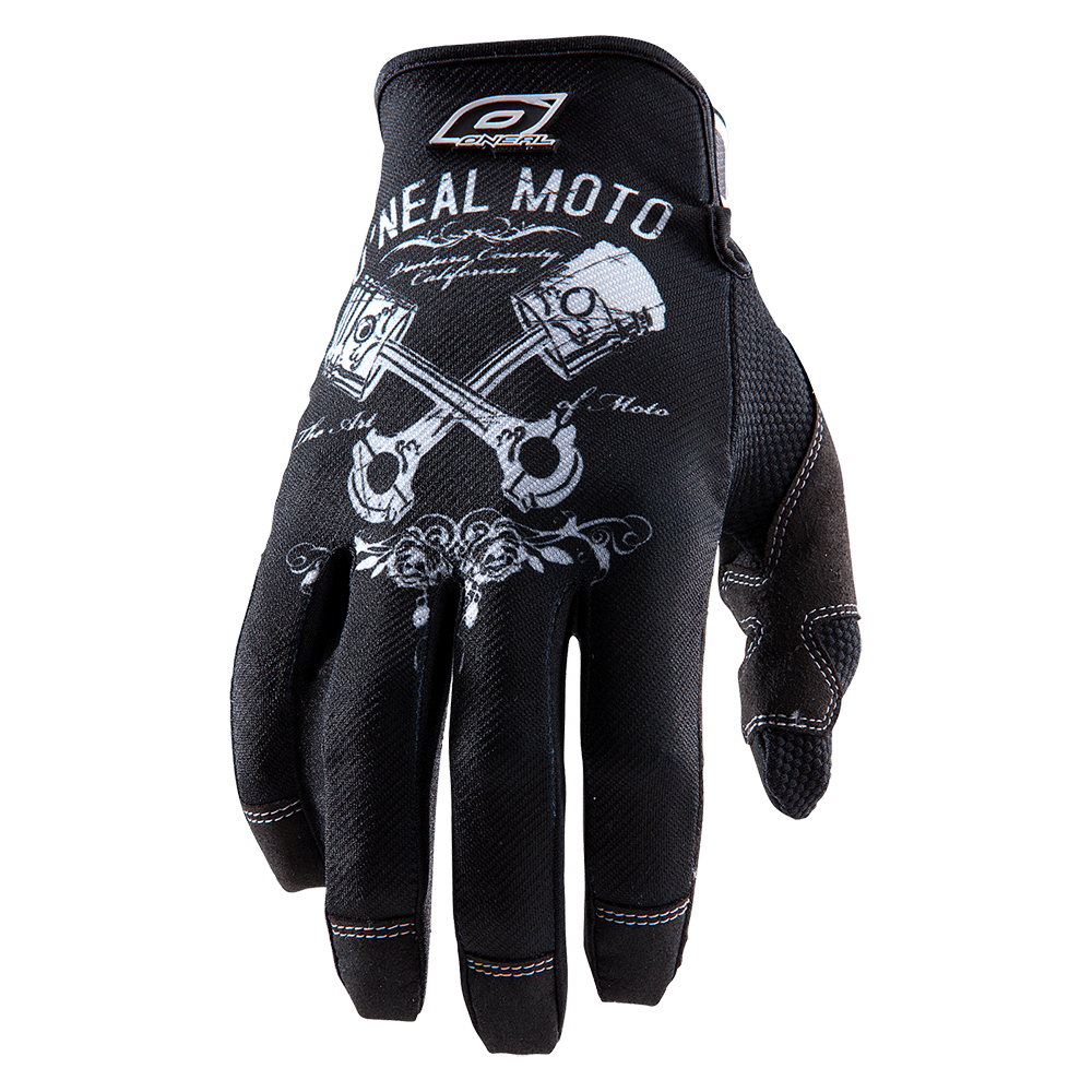 MAYHEM Glove PISTONS black/white M/8,5 - MAYHEM Glove PISTONS black/white M/8,5