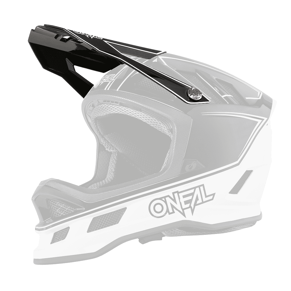 Visiera ricambio Casco MTB O'Neal BLADE Charger UNICA BLACK/WHITE