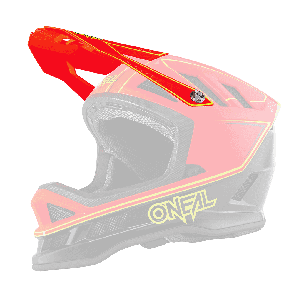 Visiera ricambio Casco MTB O'Neal BLADE Charger UNICA NEON RED