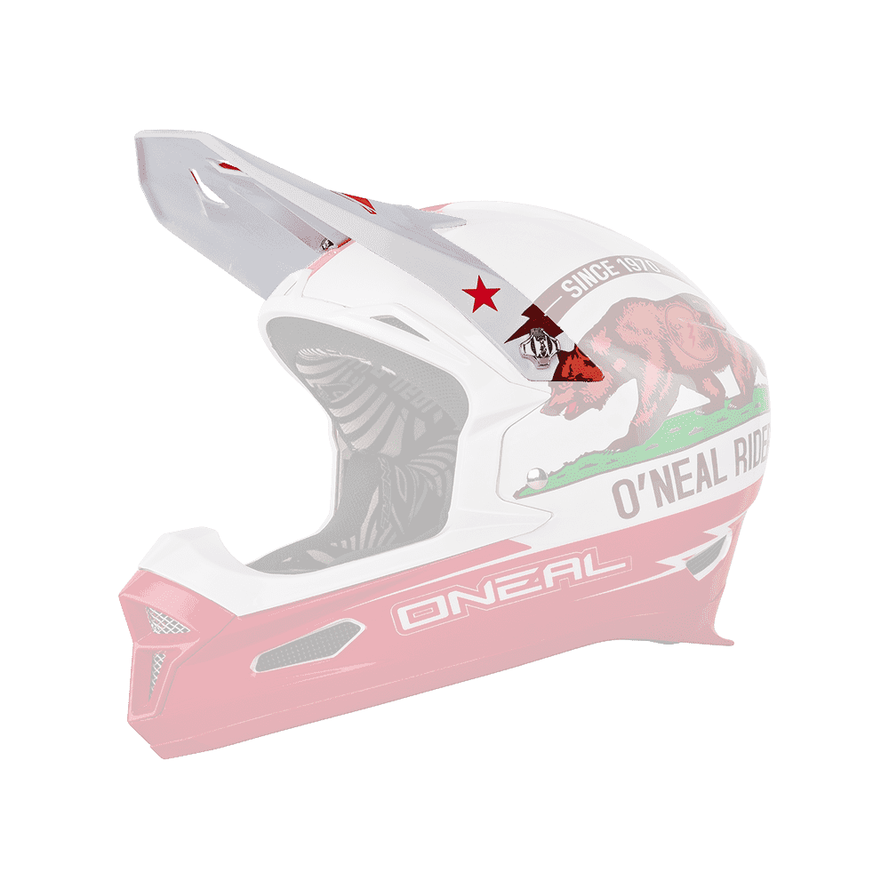 Spare Visor Fury RL Helmet CALIFORNIA white/red - Spare Visor Fury RL Helmet CALIFORNIA white/red