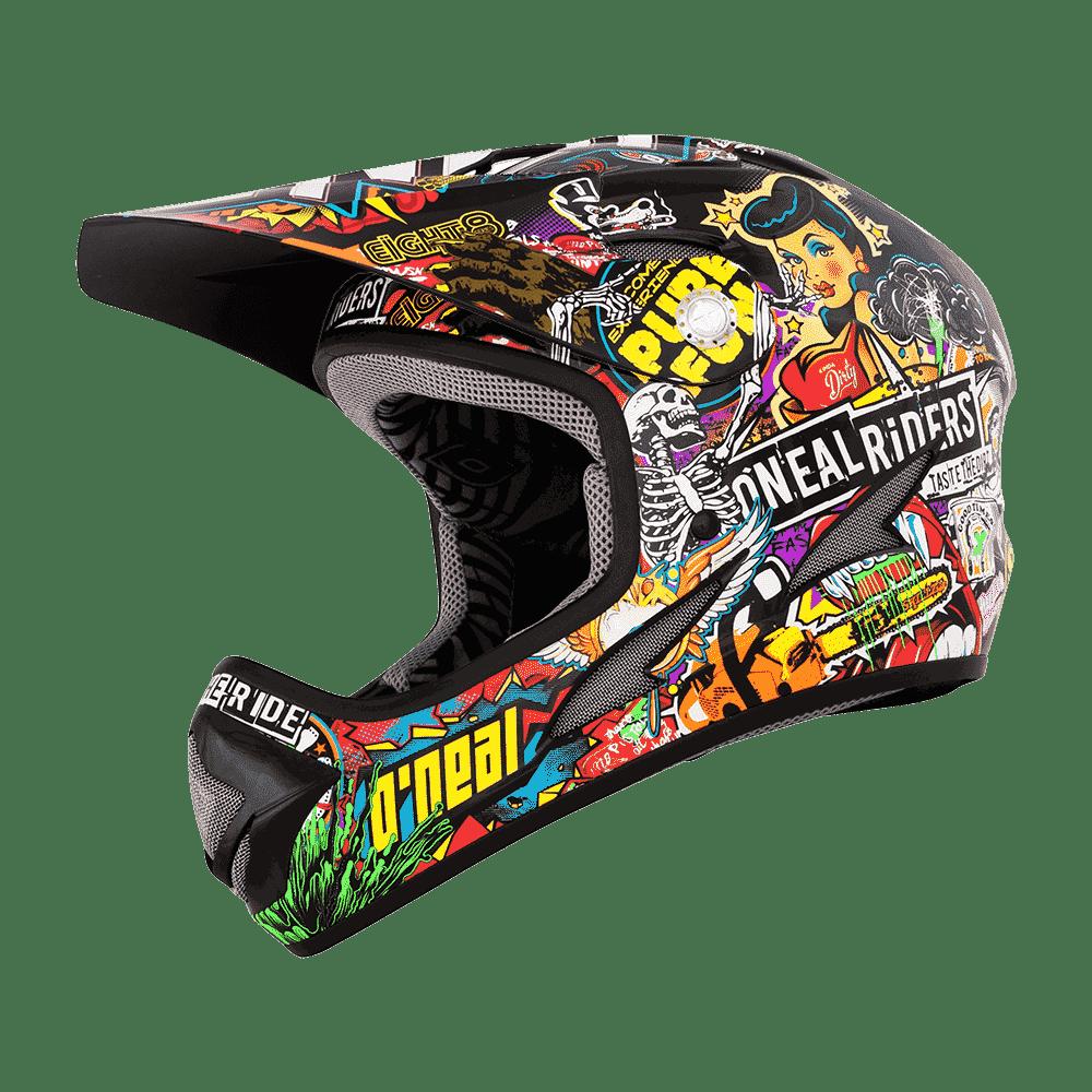 Spare Visor Backflip RL2 Helmet Evo CRANK black/multi - Spare Visor Backflip RL2 Helmet Evo CRANK black/multi