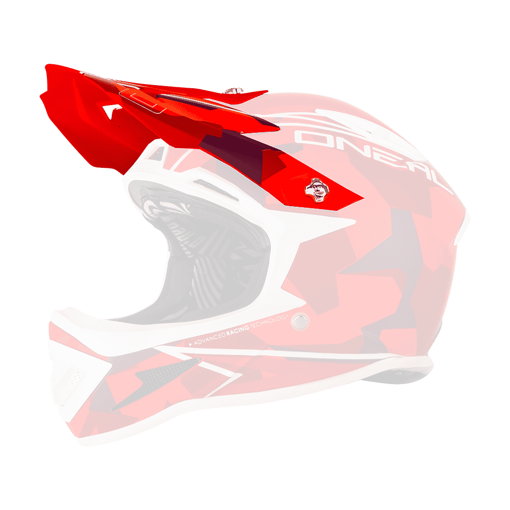 Spare Visor Warp Fidlock CAMO red - Spare Visor Warp Fidlock CAMO red