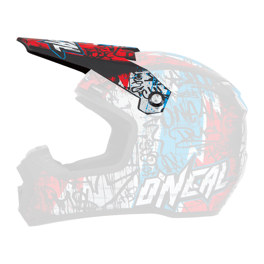 Spare Visor 5Series Vandal Helmet black/red/blue - Spare Visor 5Series Vandal Helmet black/red/blue