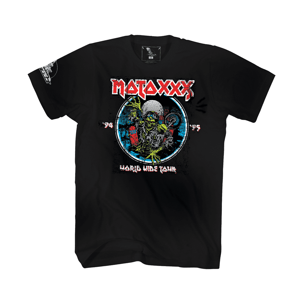 Moto XXX T-Shirts WORLD TOUR black XL - Moto XXX T-Shirts WORLD TOUR black XL