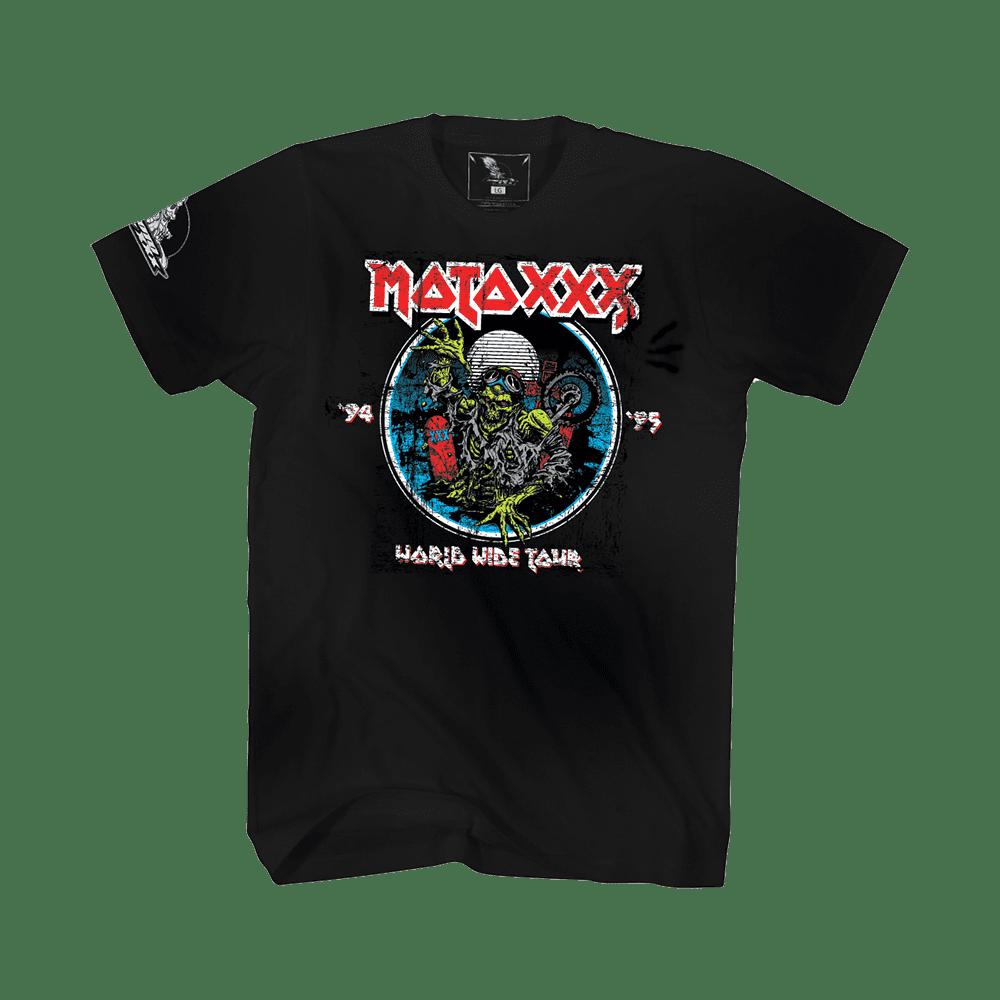 Moto XXX T-Shirts WORLD TOUR black S - Moto XXX T-Shirts WORLD TOUR black S