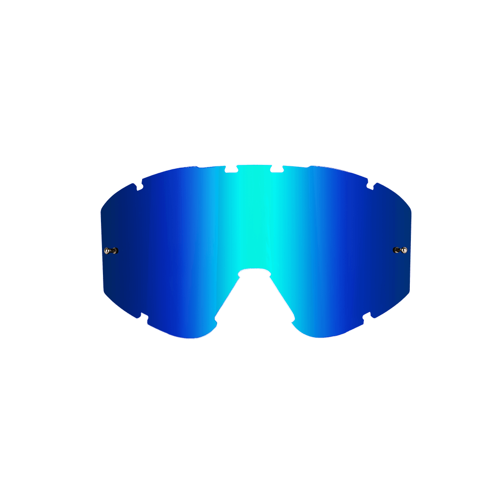 Spare Lens B2 RL Goggle Radium blue antifog-scratch, tear off pins - Spare Lens B2 RL Goggle Radium blue antifog-scratch, tear off pins