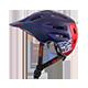 Defender Helmet FLAT dark blue/red S/56-M/59 - radschlag - Fahrradladen Ladengeschäft und Online Shop in Chemnitz - Fahrräder und Fahrradzubehör